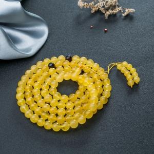 9mm雞油黃金絞蜜108佛珠