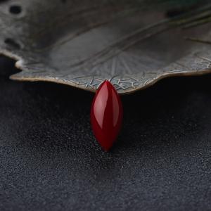 阿卡牛血红珊瑚马眼形戒面