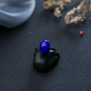 18K深藍色青金石戒指
