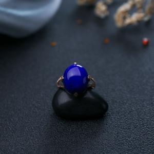 18K紫蓝色青金石戒指