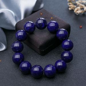 18mm紫藍色青金石單圈手串