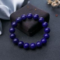 12.5mm紫蓝色青金石单圈手串