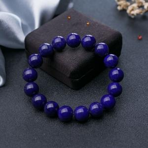 12.5mm紫藍色青金石單圈手串