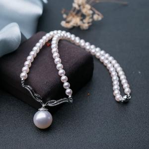 18K海水白色珍珠項鏈