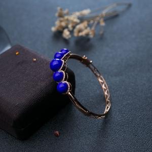 59.5mm18K天藍色青金石貴妃鐲