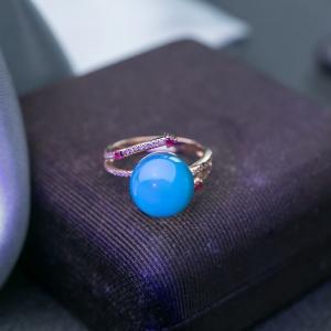 18K墨西哥藍珀戒指