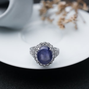 pt蓝宝石戒指