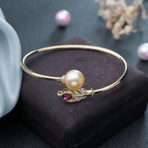 58mm18K海水金色珍珠手镯