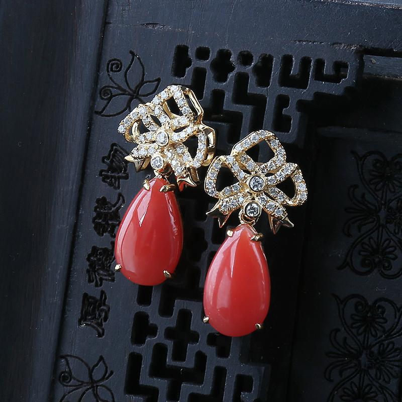 紅珊瑚耳環價格:紅珊瑚耳環多少錢一克?