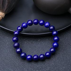 9.5mm紫蓝色青金石单圈手串