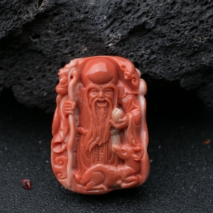 MOMO珊瑚寿星吊坠