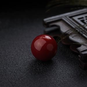 15mm阿卡牛血红珊瑚圆珠