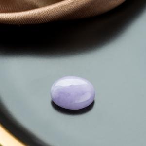 糯冰種紫羅蘭翡翠戒面