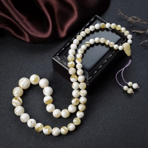 白花蜜蜡塔链