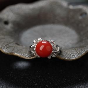 14K阿卡珊瑚戒指