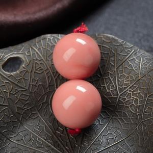 15.5mmMOMO珊瑚圓珠(兩件)