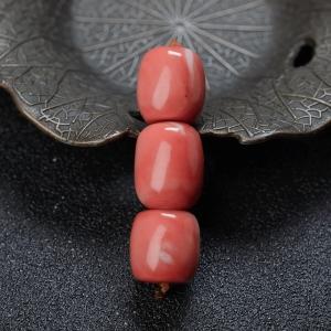 MOMO珊瑚桶珠(三件)