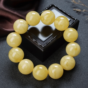 23mm柠檬黄蜜蜡单圈手串