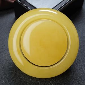 60mm雞油黃蜜蠟平安鐲