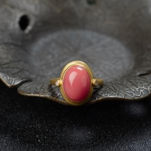 18KMISU珊瑚戒指