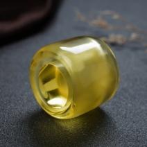 鸡油黄金绞蜜蜡扳指套装