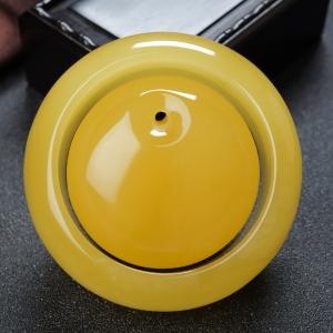 57mm雞油黃蜜蠟平安鐲