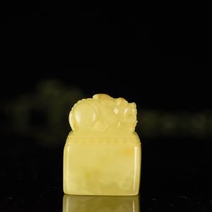 金絞蜜蜜蠟貔貅印章
