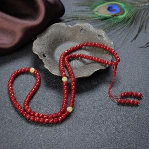 沙丁珊瑚桶珠多圈手串