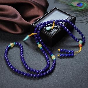 6.5mm紫藍色青金石108佛珠