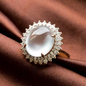 18K高冰种翡翠戒指