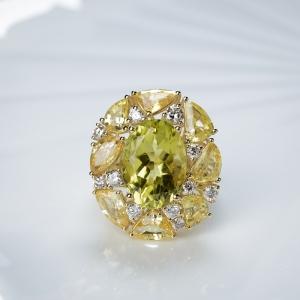 18K黃水晶戒指