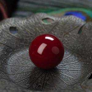 19mm阿卡牛血红珊瑚圆珠