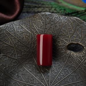 阿卡牛血紅珊瑚長方形戒面
