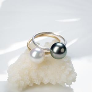 18K海水珍珠戒指兩用款