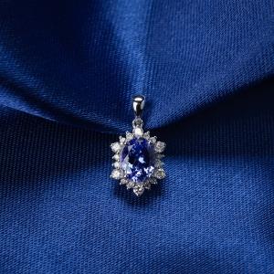 18K藍紫色藍寶石吊墜