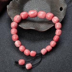 深水珊瑚桶珠单圈手串