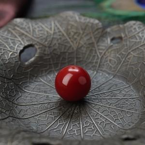 12mm阿卡牛血紅珊瑚圓珠