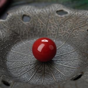 13.5mm阿卡牛血紅珊瑚圓珠