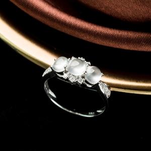 18K玻璃種翡翠戒指