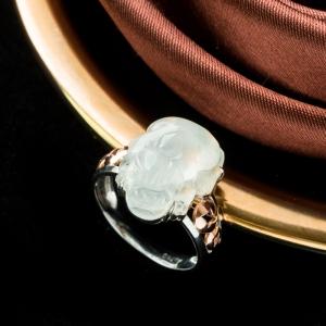 18K冰種翡翠貔貅戒指