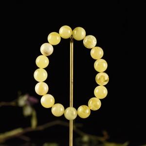 12mm白花蜜蜜蜡单圈手串