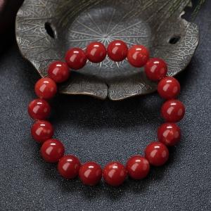 10mm阿卡牛血紅珊瑚單圈手串