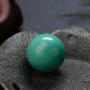 21.5mm中高瓷蓝绿绿松石圆珠