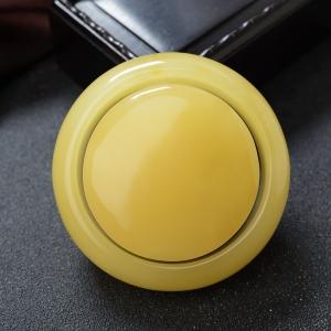 56mm鸡油黄蜜蜡平安镯