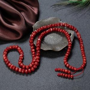 阿卡牛血紅珊瑚鼓珠多圈手串