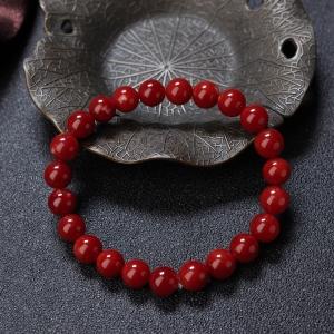 8mm阿卡牛血红珊瑚单圈手串