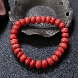 沙丁珊瑚鼓珠单圈手串