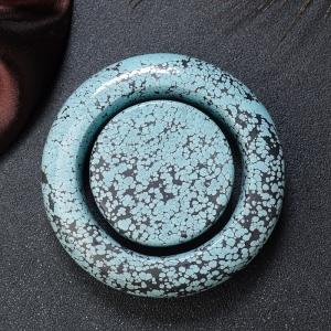 57mm中高瓷铁线蓝绿绿松石平安镯