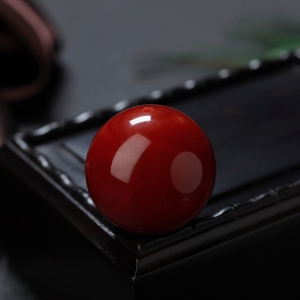 23.5mm阿卡牛血紅珊瑚圓珠