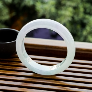 57.5mm糯冰種紫羅蘭翡翠平安鐲